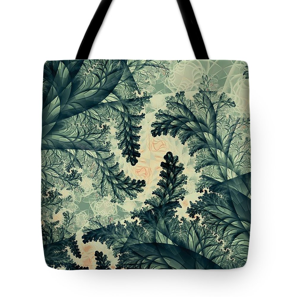 Plant Tote Bag featuring the digital art Cubano Cubismo by Casey Kotas