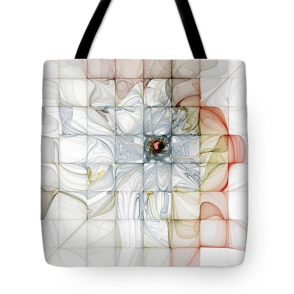Digital Art Tote Bag featuring the digital art Cubed Pastels by Amanda Moore