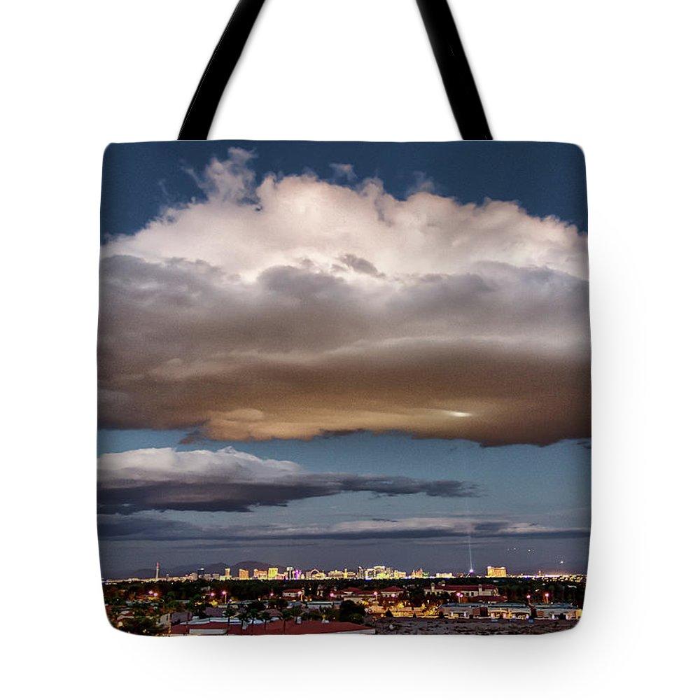 Landscape Photography Tote Bag featuring the photograph Cumulus Las Vegas by Michael Rogers