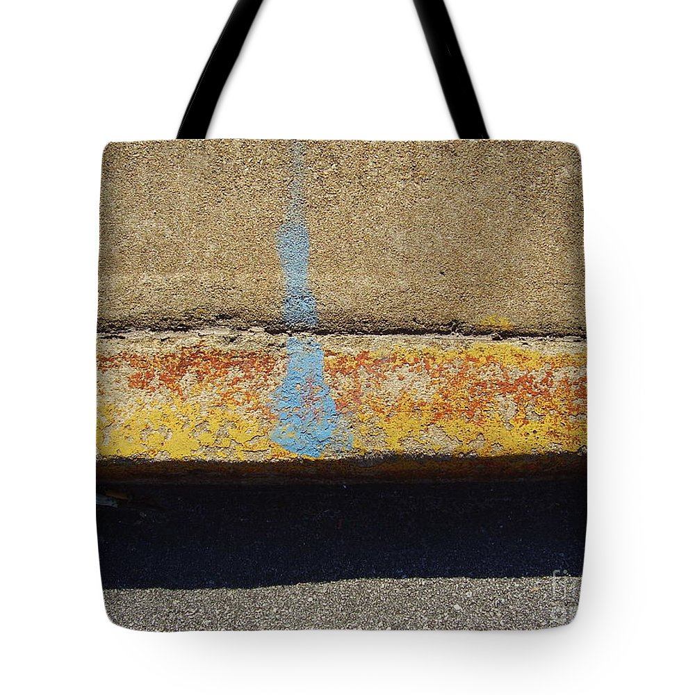Abstract Tote Bag featuring the photograph Curb by Flavia Westerwelle