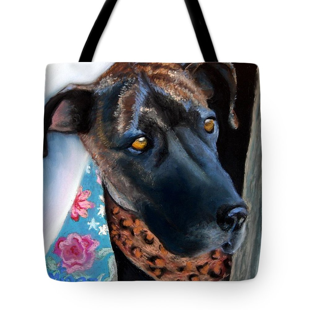 Great Dane Tote Bag featuring the painting Whats Going On? by Minaz Jantz