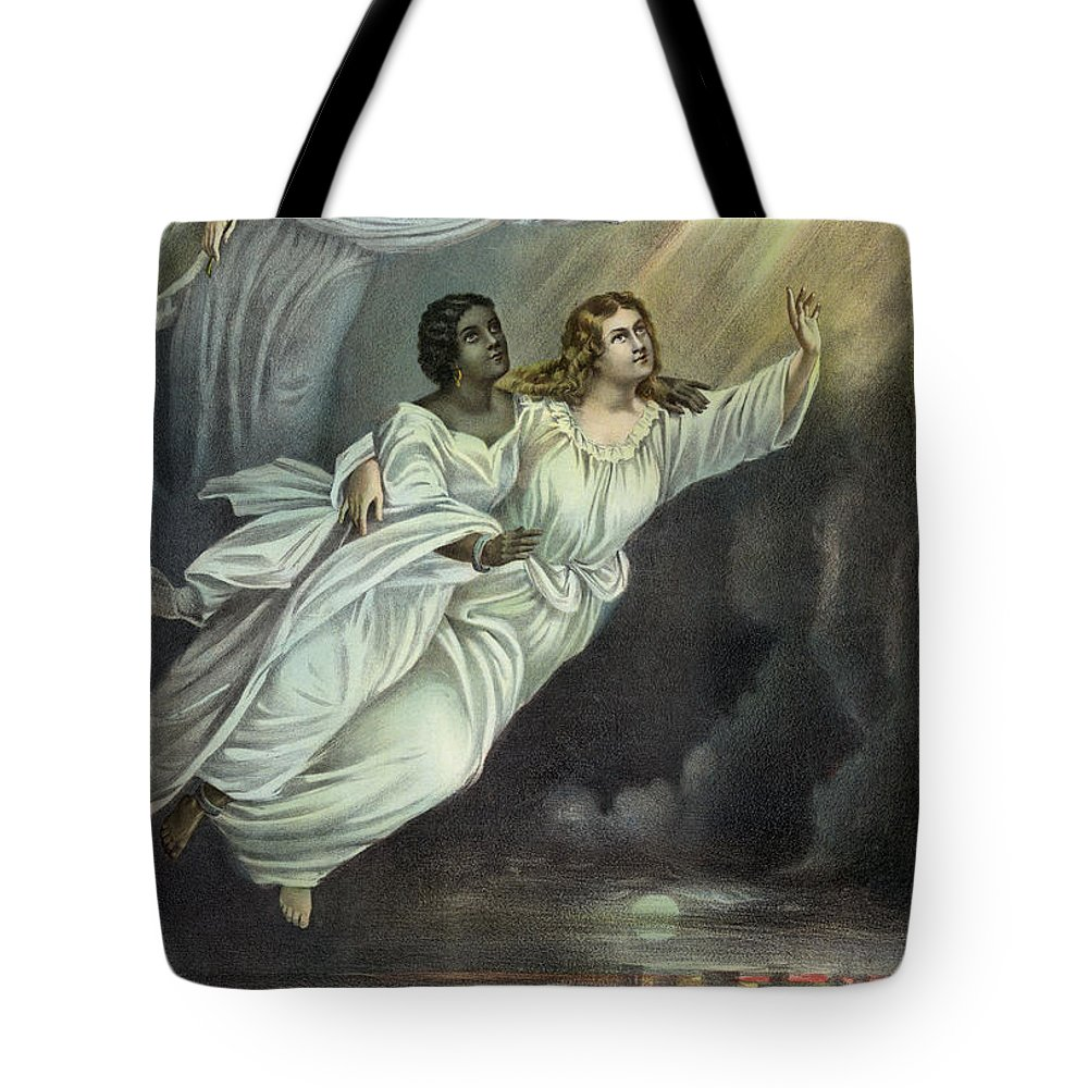 1893 Tote Bag featuring the photograph Currier And Ives: Ghost by Granger
