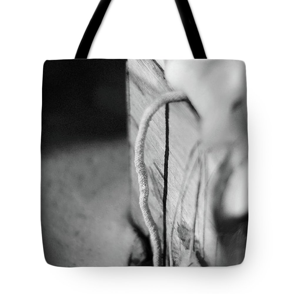 Monochrome Tote Bag featuring the photograph Curve And Line by Rebecca Sherman