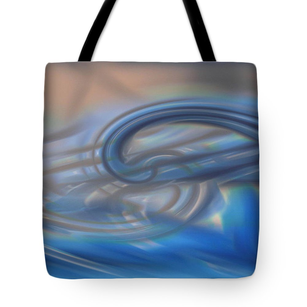 Abstracts Tote Bag featuring the digital art Curved Lines by Linda Sannuti