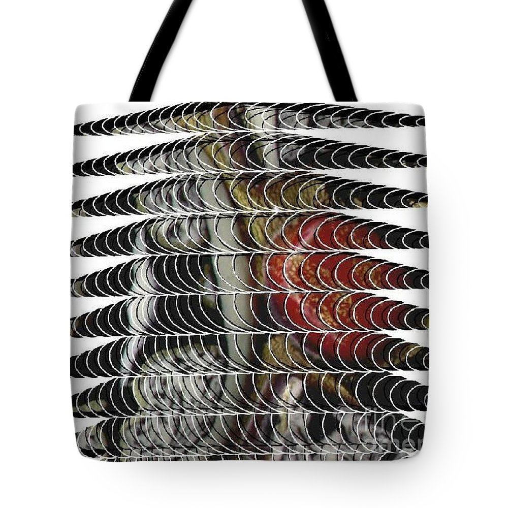 Curves Tote Bag featuring the digital art Curves And Triangles by Angela L Walker