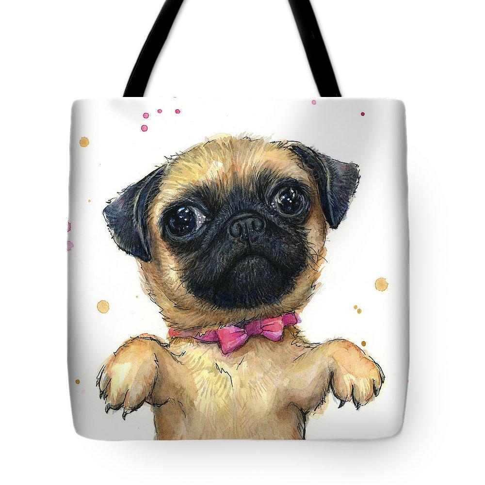 Pug Selfie Tote Bag