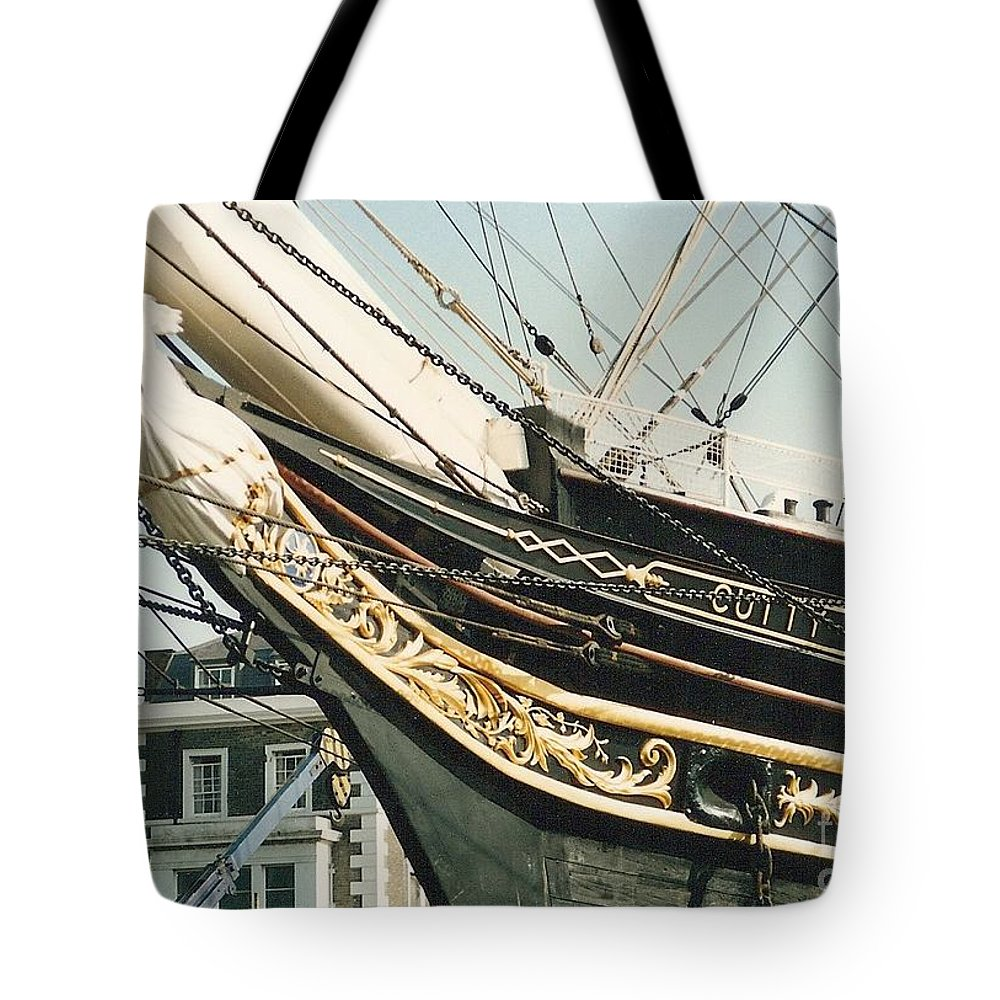 Ship Tote Bag featuring the photograph Cutty Sark by Mary Rogers