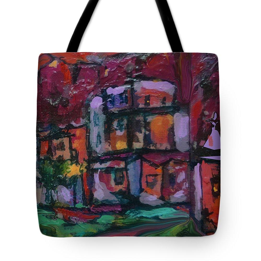 Cyan Sky Tote Bag featuring the digital art Cyan Skies by Zsanan Narrin