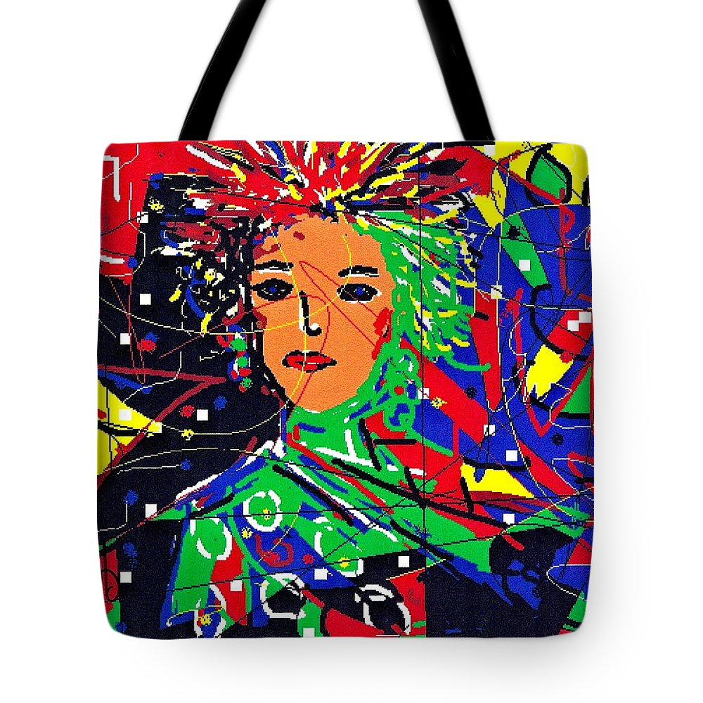 Woman Tote Bag featuring the digital art Cyberspace Goddess by Natalie Holland