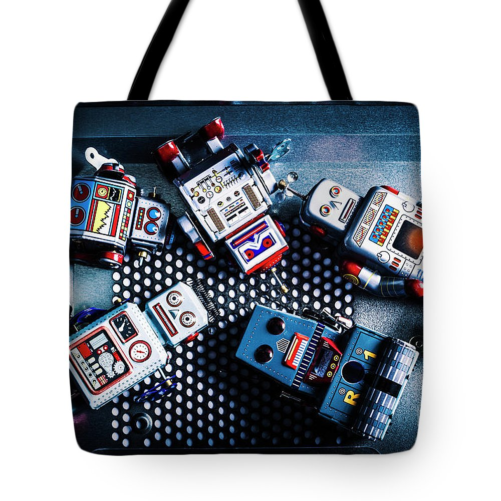 Robotics Tote Bag featuring the photograph Cyborg Technology Reset by Jorgo Photography - Wall Art Gallery