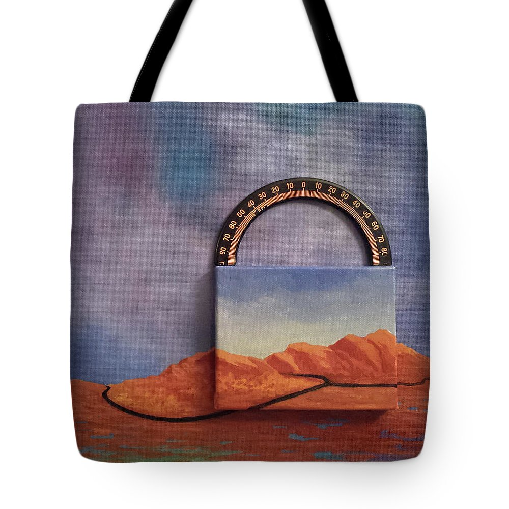 Clouds Mountains Meridian Tote Bag featuring the painting Cyclic Existence by Beth Waltz