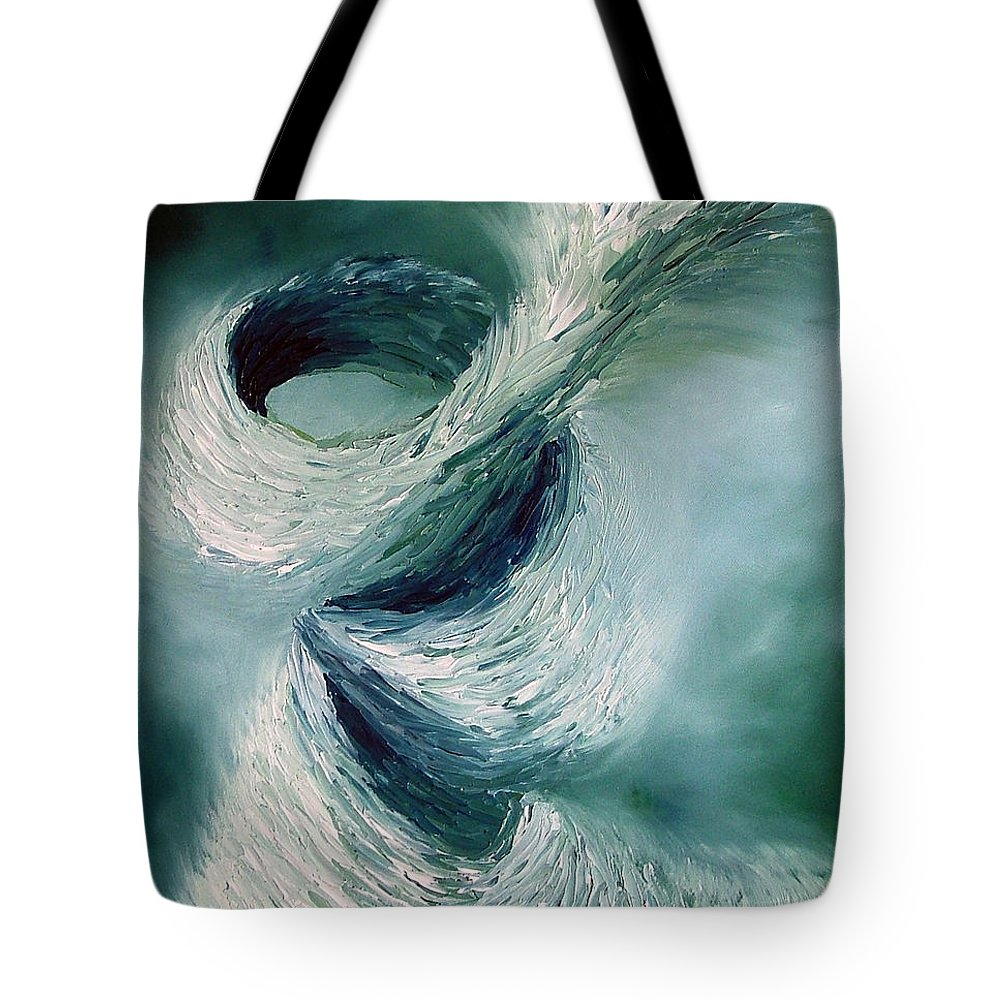 Tornado Tote Bag featuring the painting Cyclone by Elizabeth Lisy Figueroa