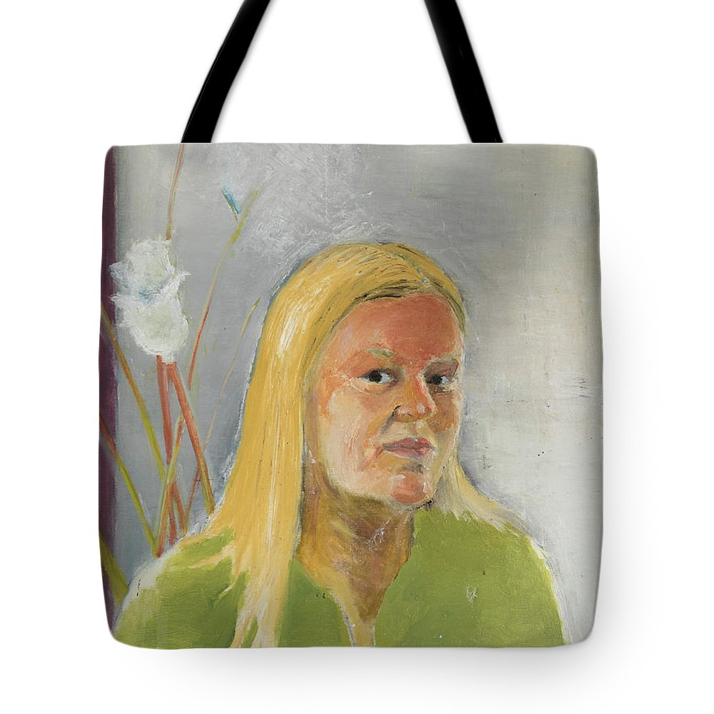 Woman Tote Bag featuring the painting Cynthia by Craig Newland