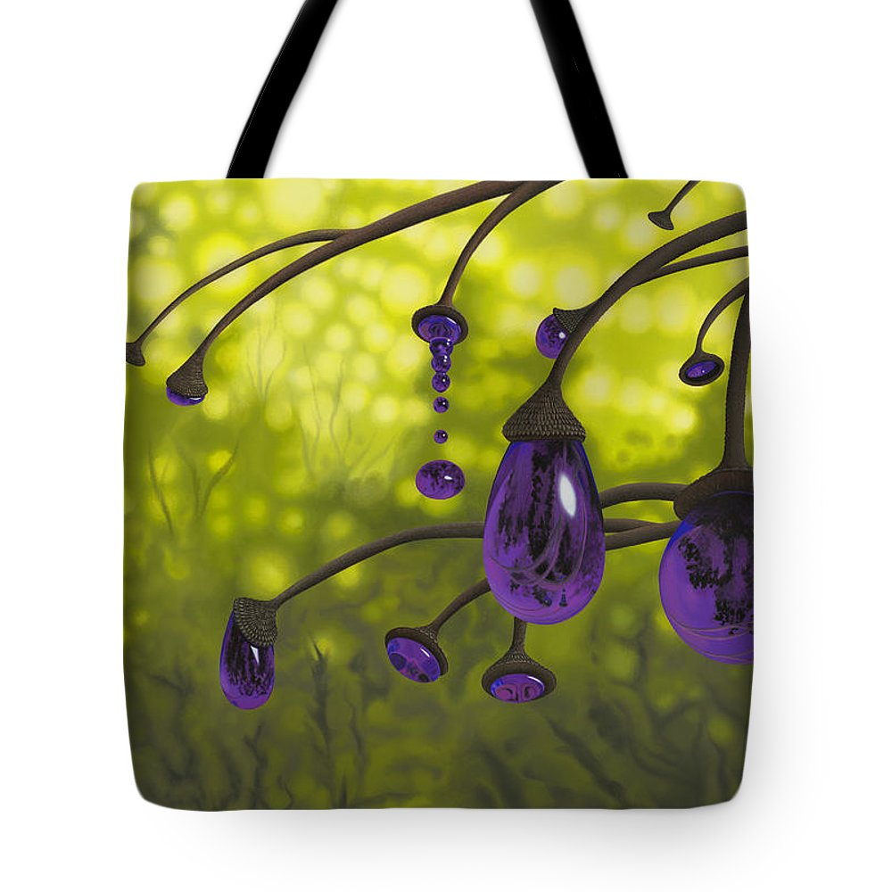 Tree Tote Bag featuring the painting Cyphomandra Vitra by Patricia Van Lubeck