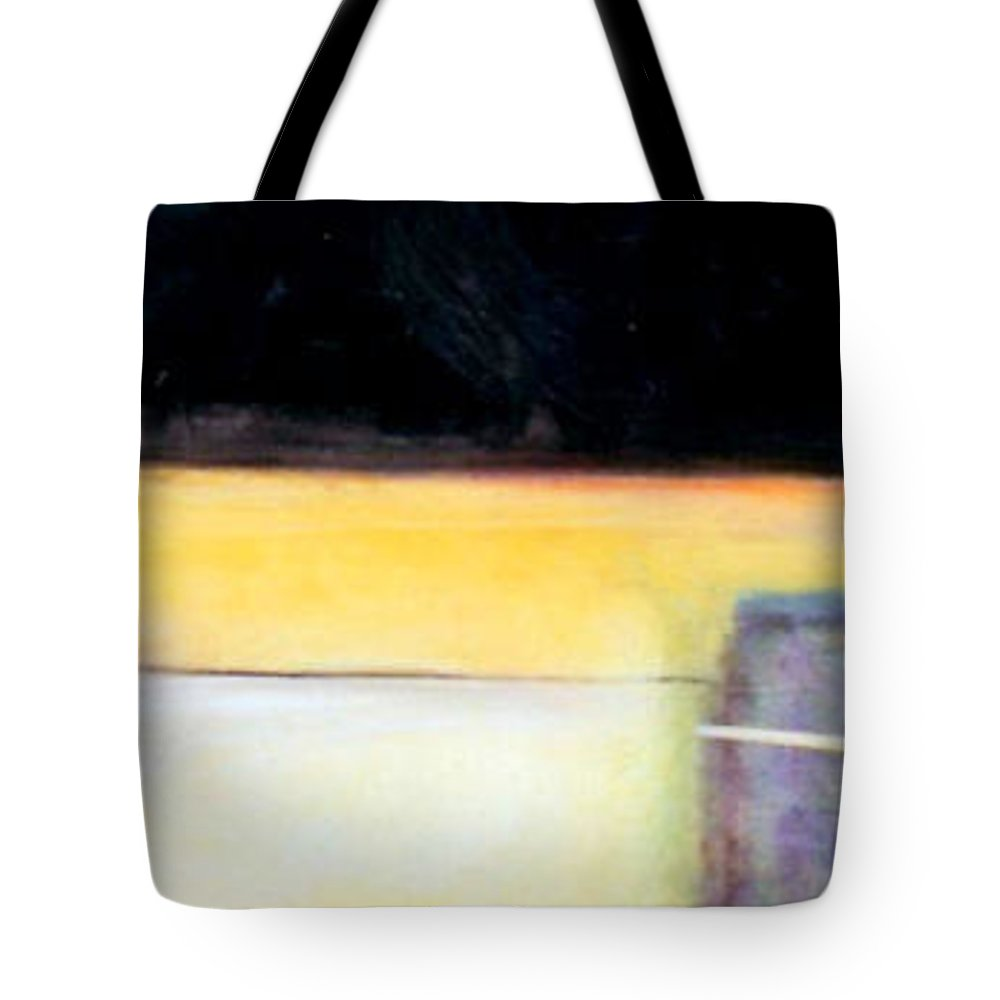 Abstract Tote Bag featuring the painting D-bird Lightening Bug by Marlene Burns