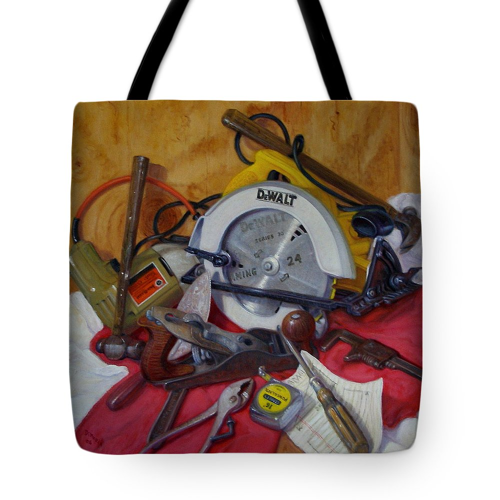 Realism Tote Bag featuring the painting D. I. Y. 2  by Donelli DiMaria
