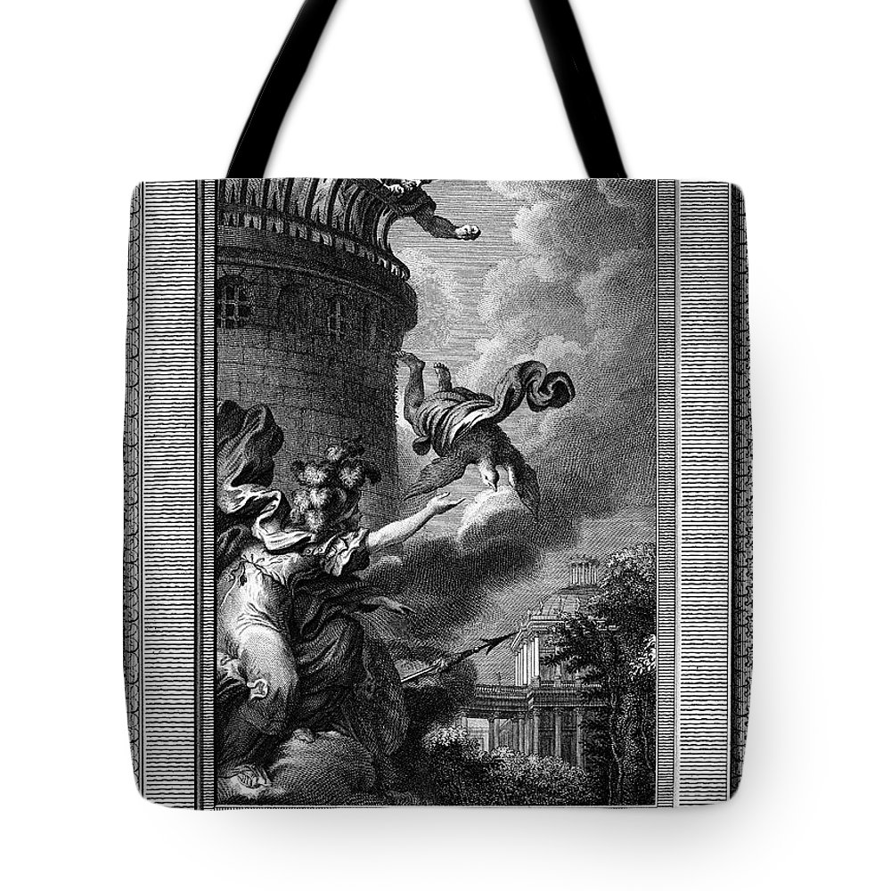 Ancient Tote Bag featuring the photograph Daedalus And Perdix by Granger