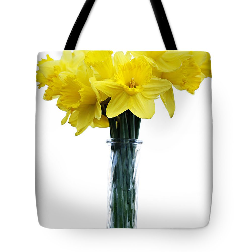 Daffodil Tote Bag featuring the photograph Daffodil by Marilyn Hunt
