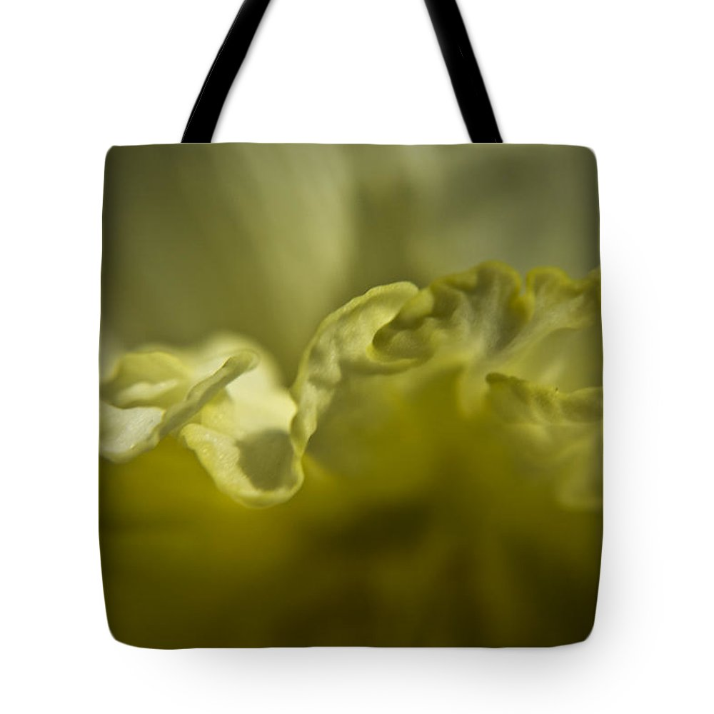 Flower Tote Bag featuring the photograph Daffodil Ruffles by Teresa Mucha