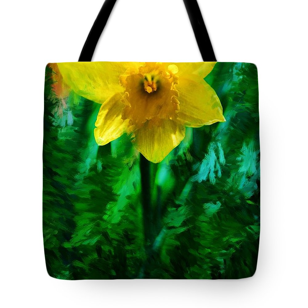 Abstract Tote Bag featuring the photograph Daffy Dill by David Lane