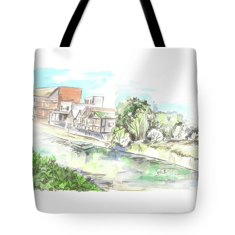 Sea Tote Bag featuring the painting Dagomys by Yana Sadykova