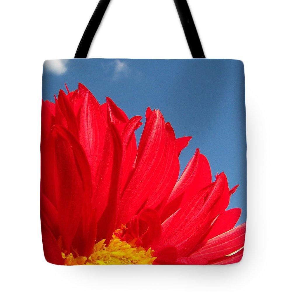 Dahlia Tote Bag featuring the photograph Dahlia by Amanda Barcon