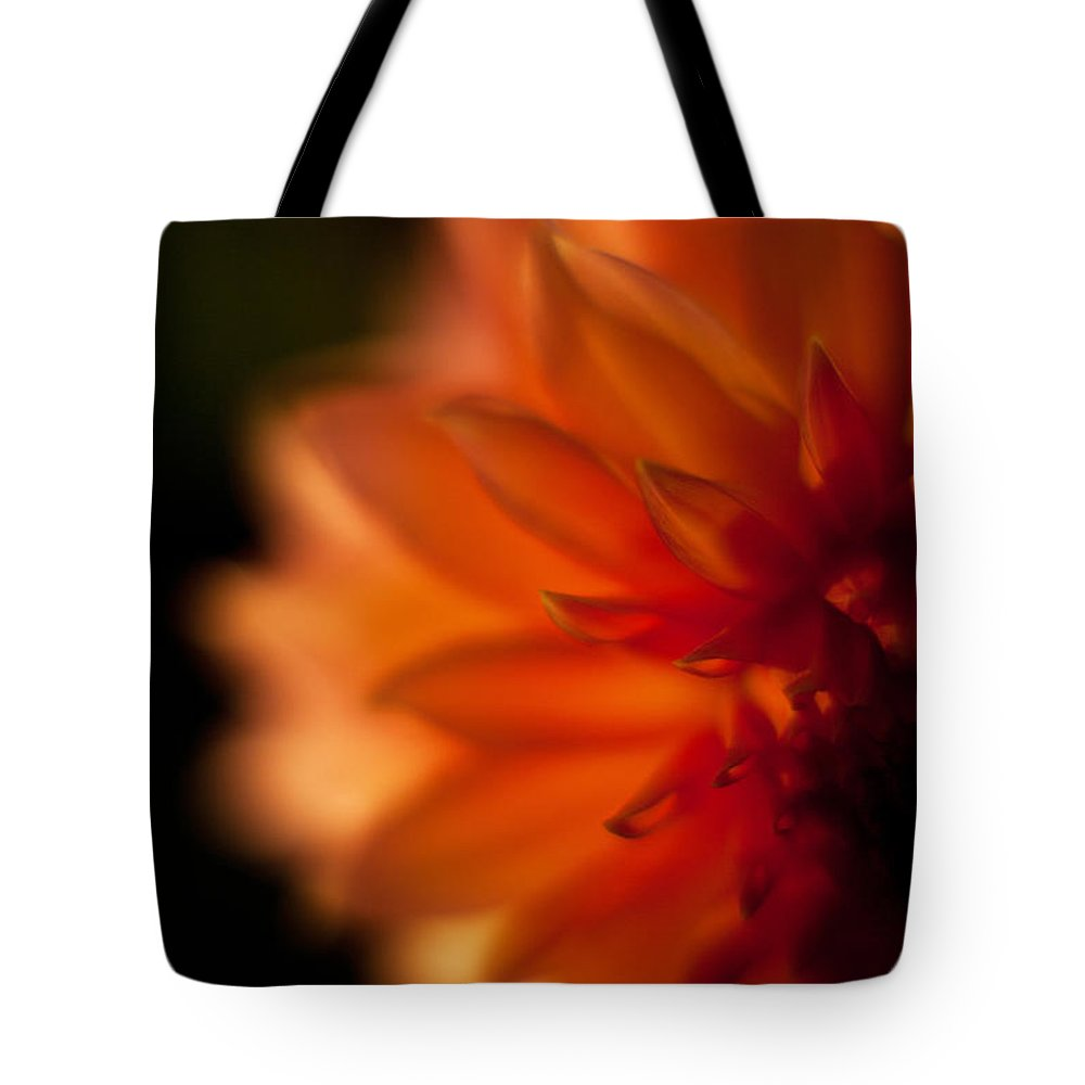 Dahlia Tote Bag featuring the photograph Dahlia Fueur by Mike Reid
