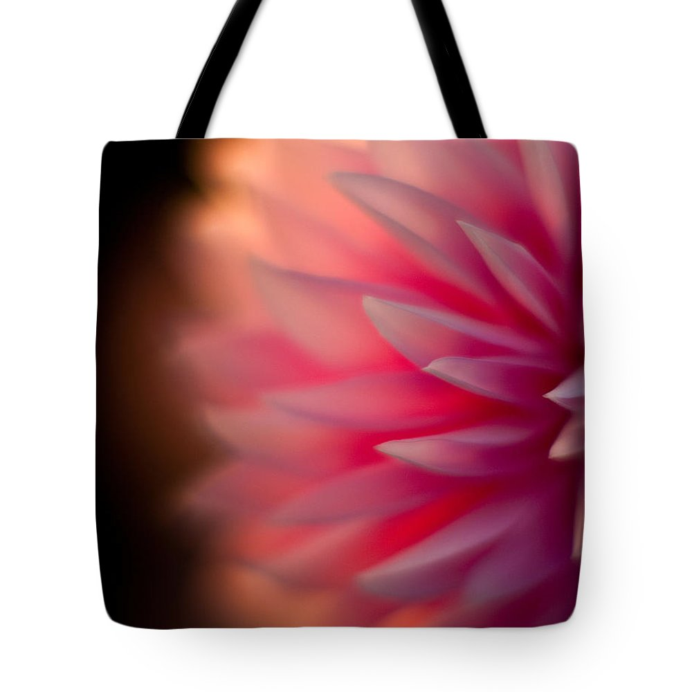 Dahlia Tote Bag featuring the photograph Dahlia Sunset by Mike Reid