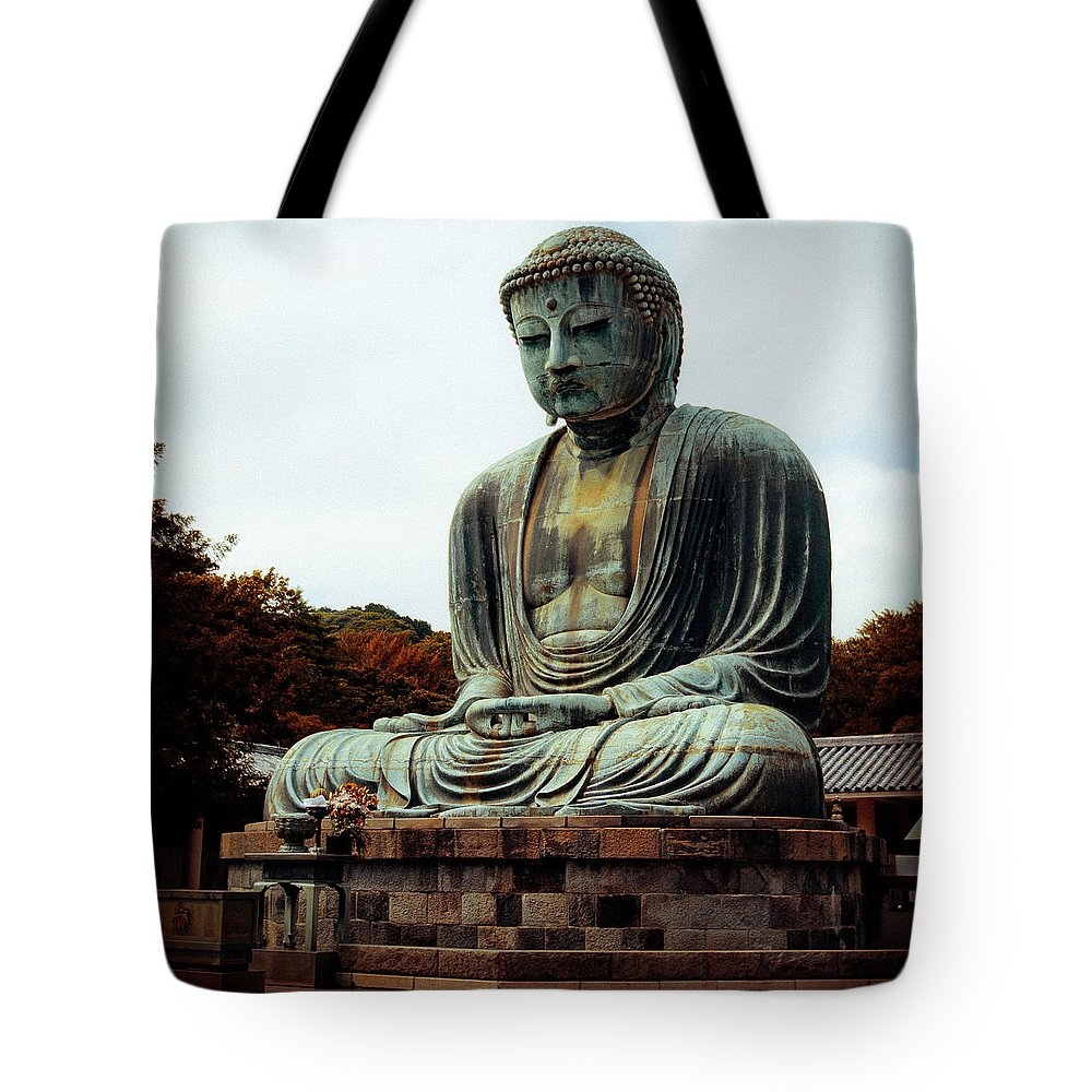 Nate Spotts Tote Bag featuring the photograph Daibutsu by Nathan Spotts