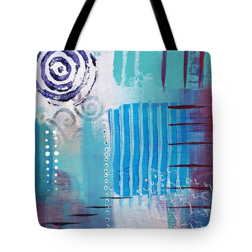 Abstractart Tote Bag featuring the painting Daily Abstract Four by Suzzanna Frank