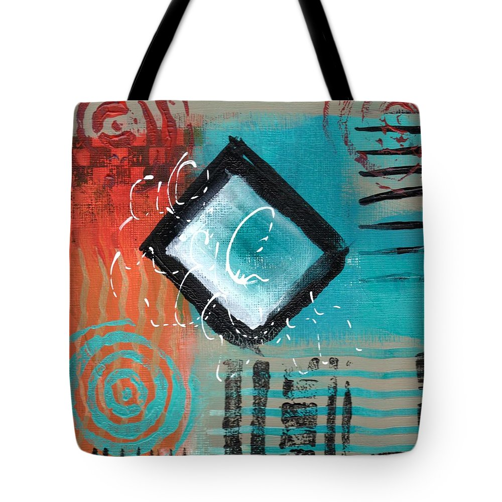 Abstractart Tote Bag featuring the painting Daily Abstract Week 2, #5 by Suzzanna Frank