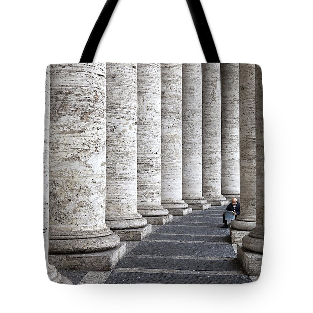 Italy Tote Bag featuring the photograph Daily News by Janet Fikar