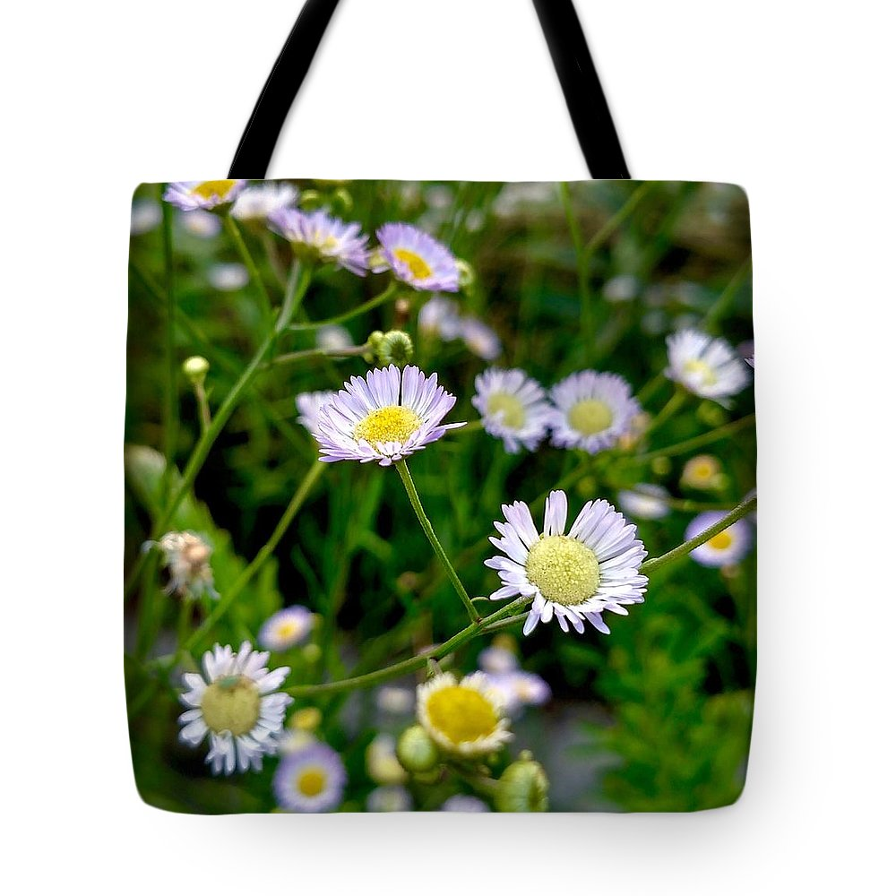 Flower Tote Bag featuring the photograph Dainty Flowers by Amanda Myers