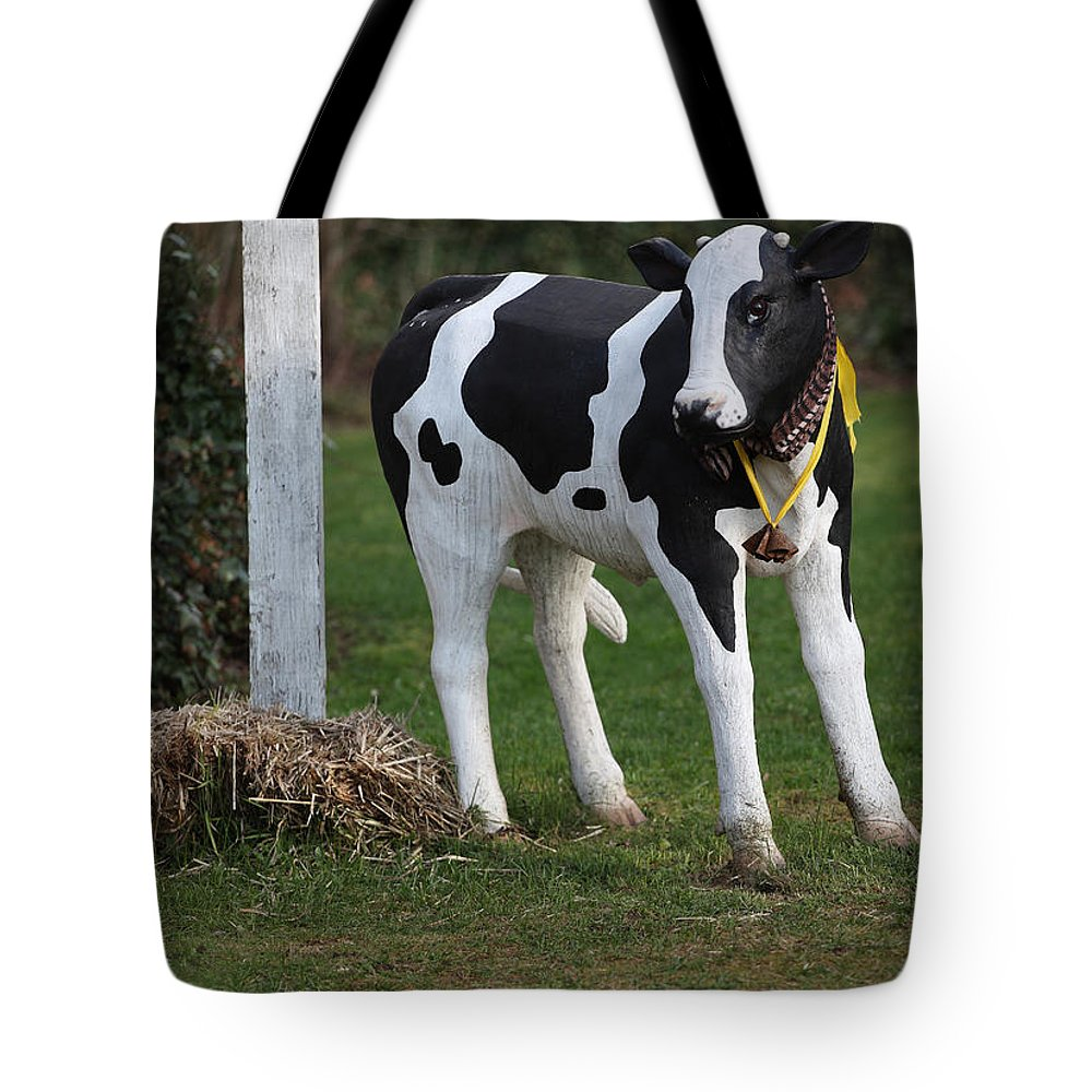 Dairy Tote Bag featuring the photograph Dairy Cow Stature. by Oscar Williams