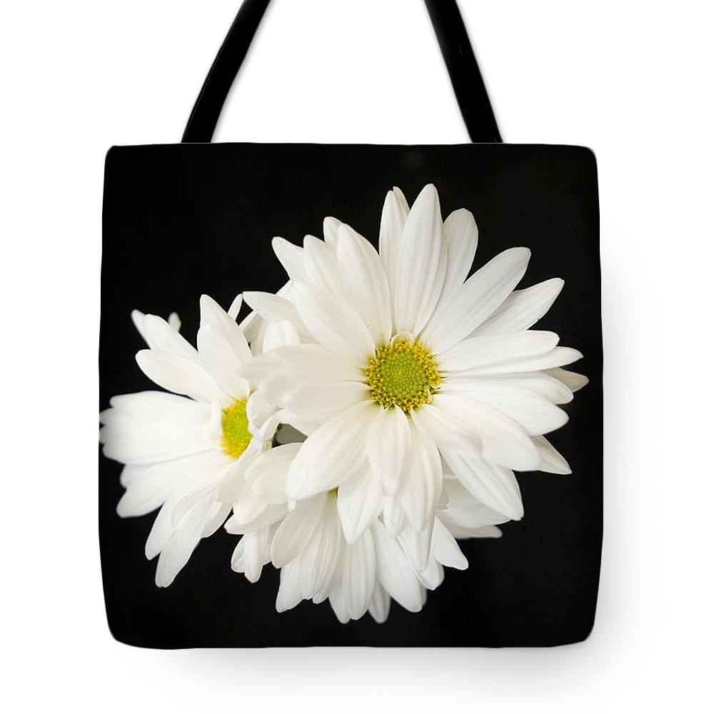 Floral Tote Bag featuring the photograph Daisies by Ayesha Lakes