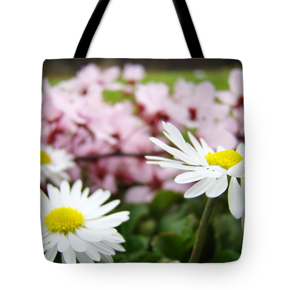 Daisies Tote Bag featuring the photograph Daisies Flowers Art Prints Spring Flowers Artwork Garden Nature Art by Baslee Troutman