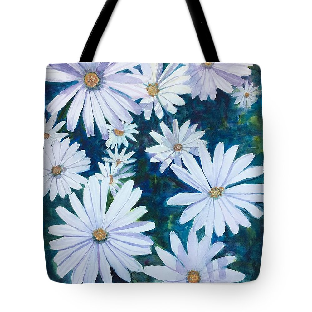 Daisies Tote Bag featuring the painting Daisies Galore by Cindy McLean