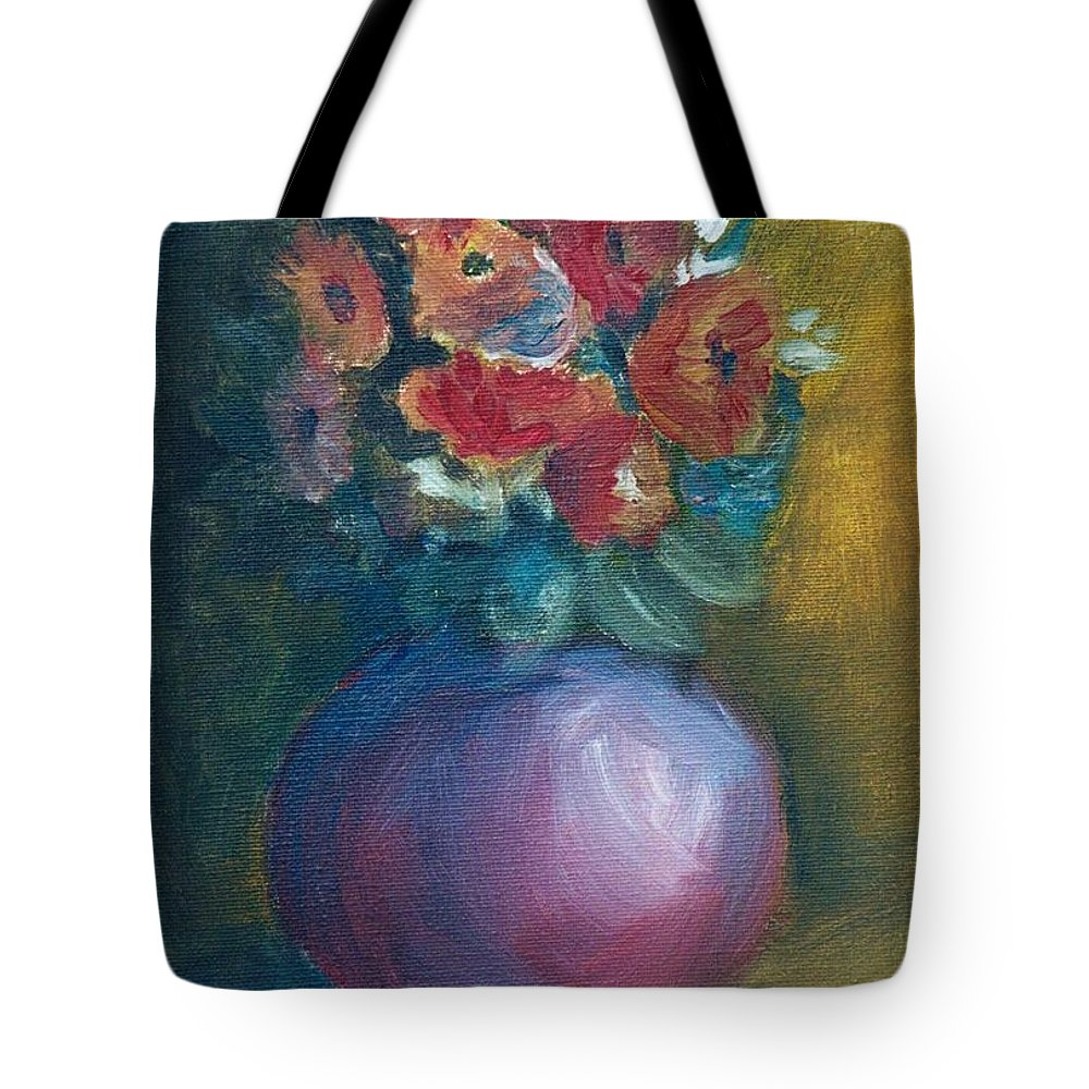 Daisies Tote Bag featuring the painting Daisies by Jun Jamosmos