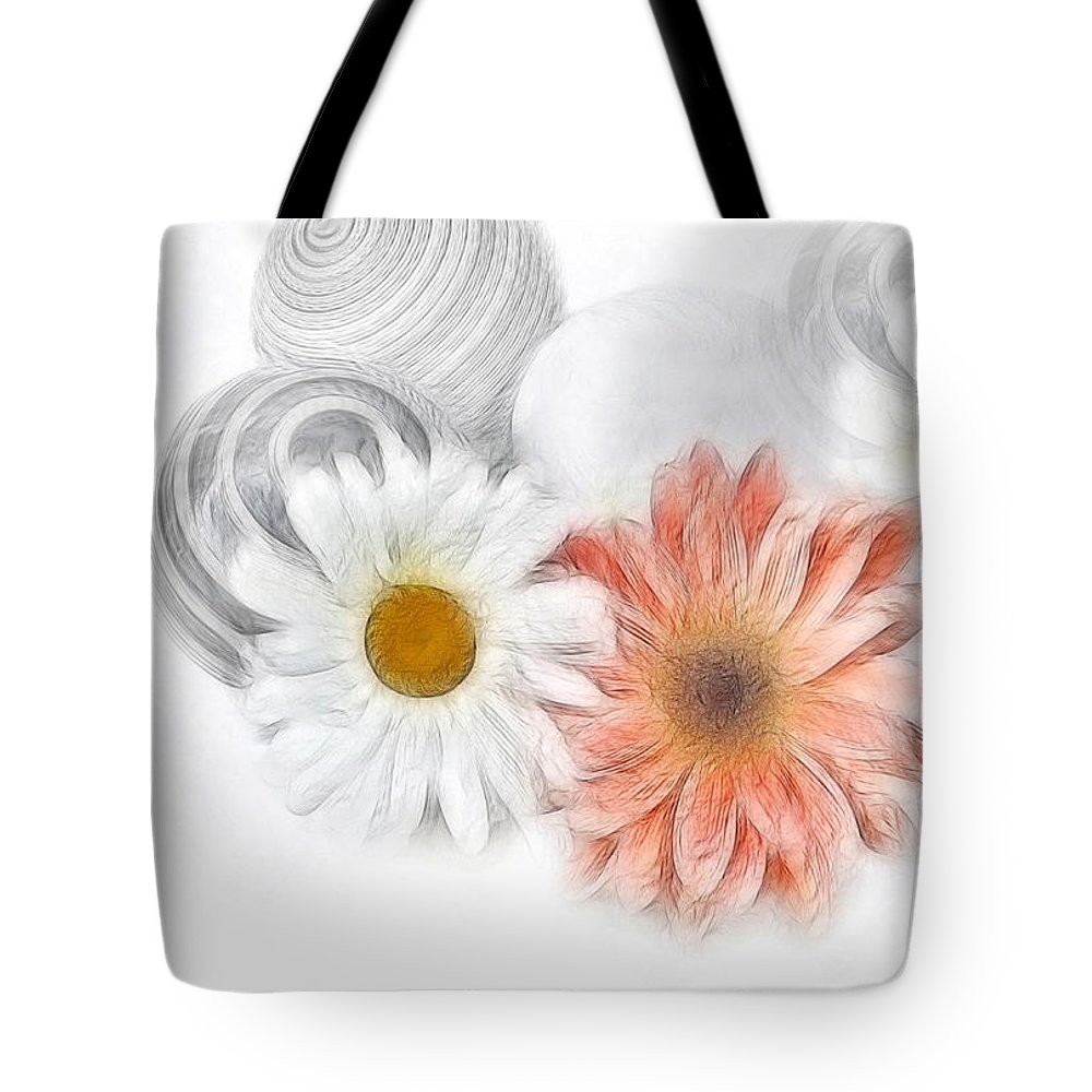 Daisies Tote Bag featuring the photograph Daisies by Manfred Lutzius