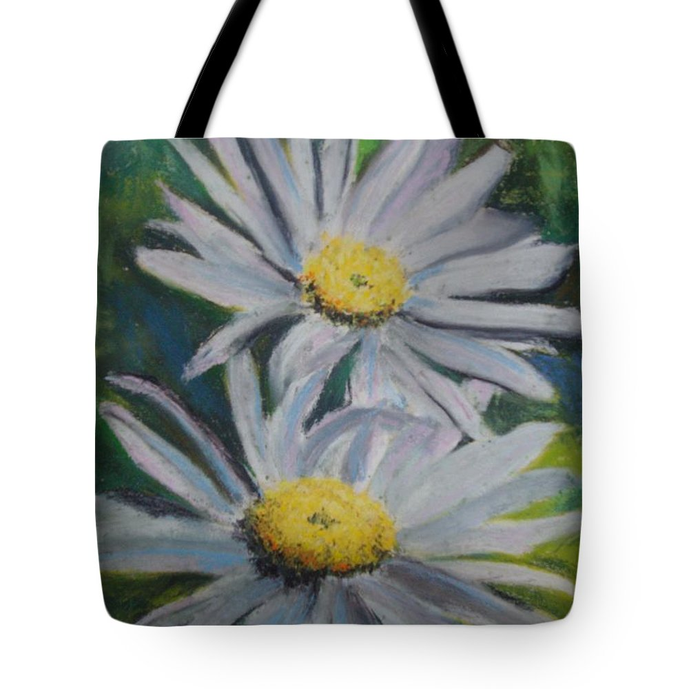 Daisies Tote Bag featuring the painting Daisies by Melinda Etzold