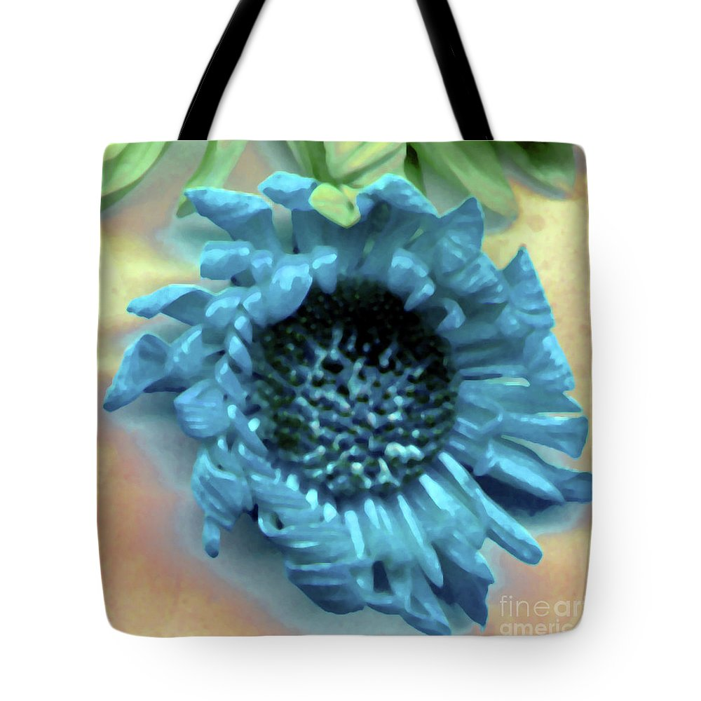 Tote Bag featuring the photograph Daisy Blue by Heather Kirk