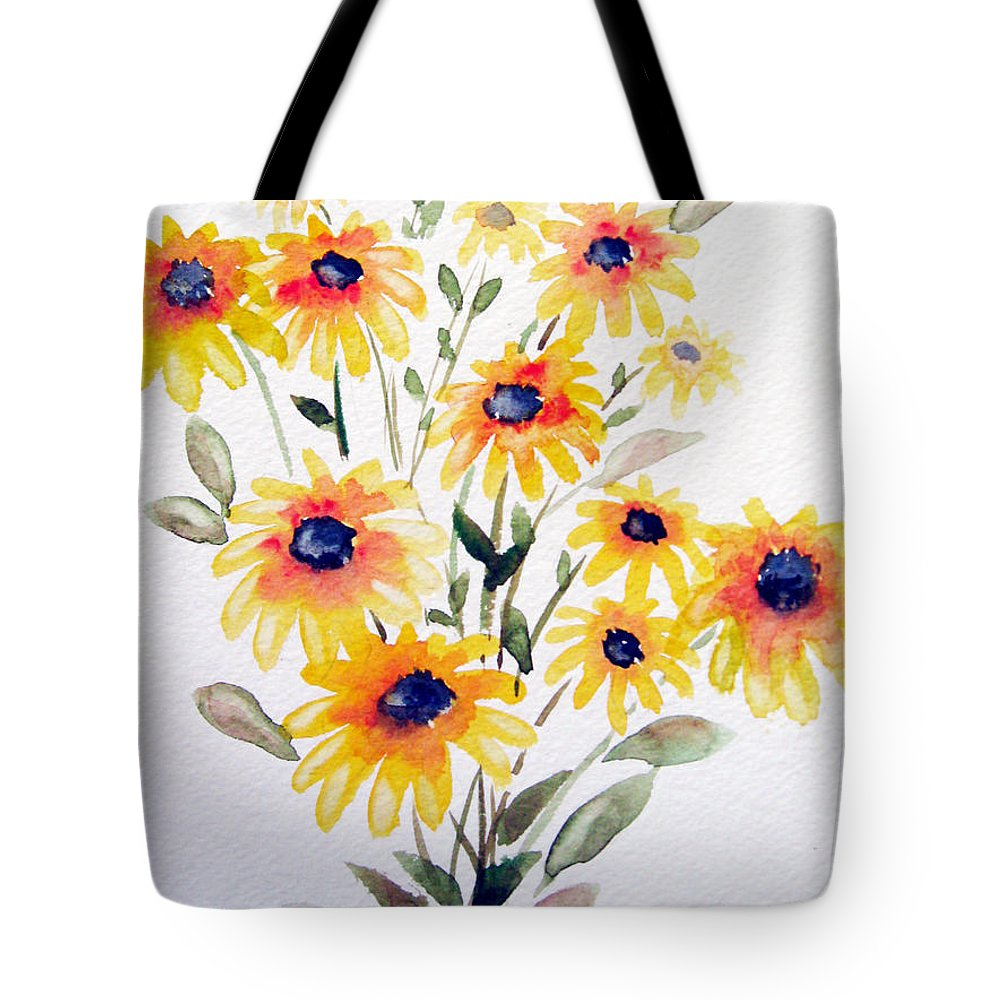 Flowers Tote Bag featuring the painting Daisy Bouquet by Marsha Elliott