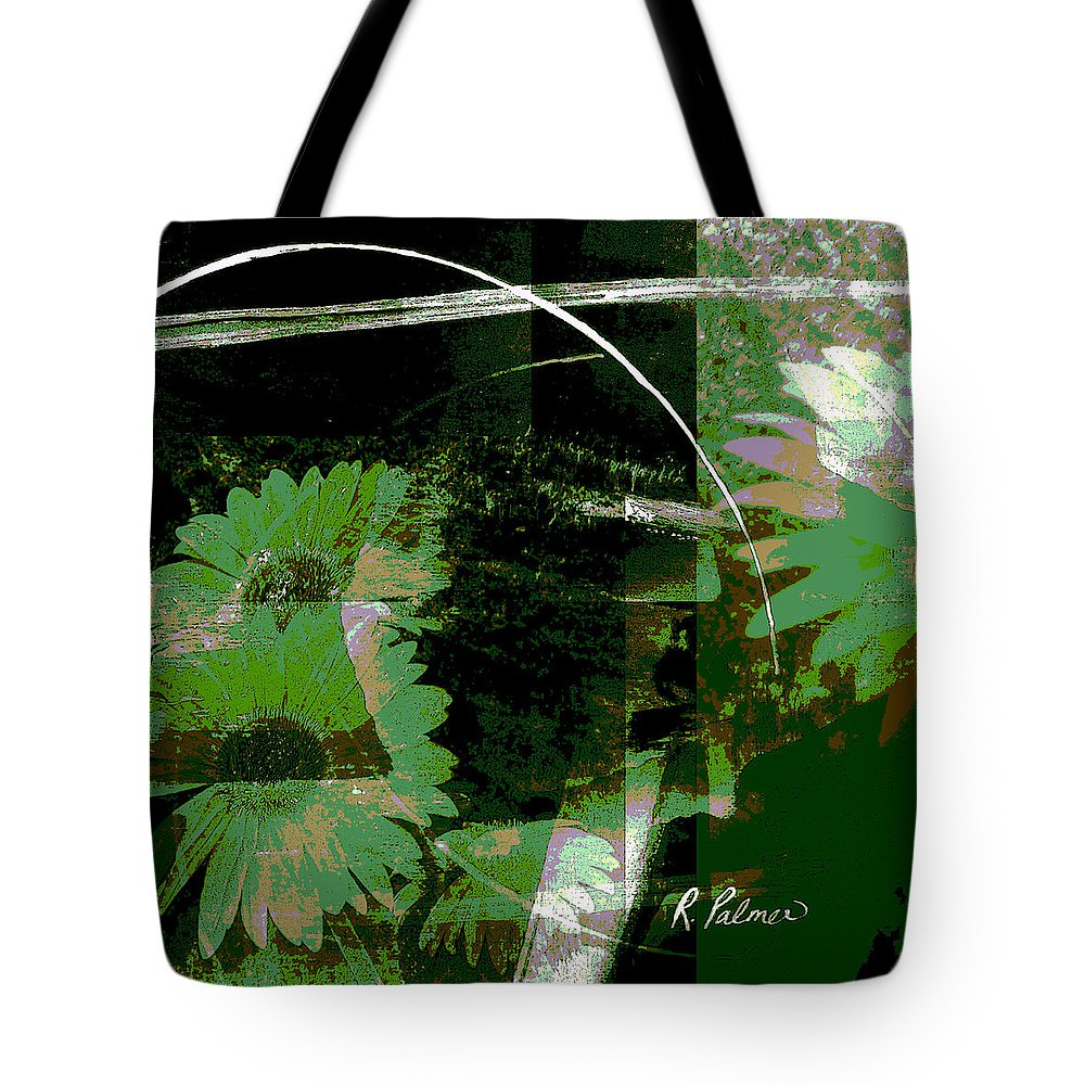 Abstract Tote Bag featuring the mixed media Daisy Chain by Ruth Palmer