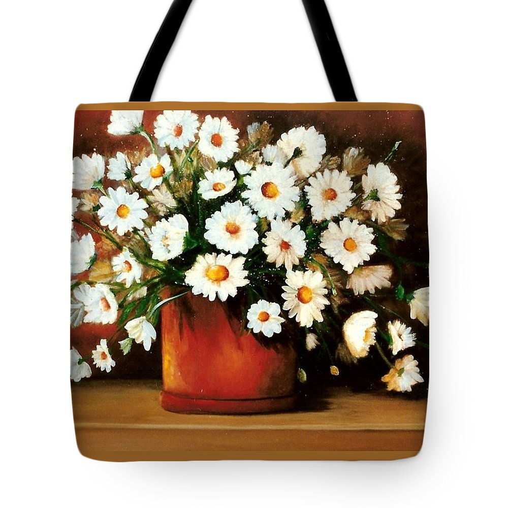 Daisies Tote Bag featuring the painting Daisy Doodle SOLD by Susan Dehlinger