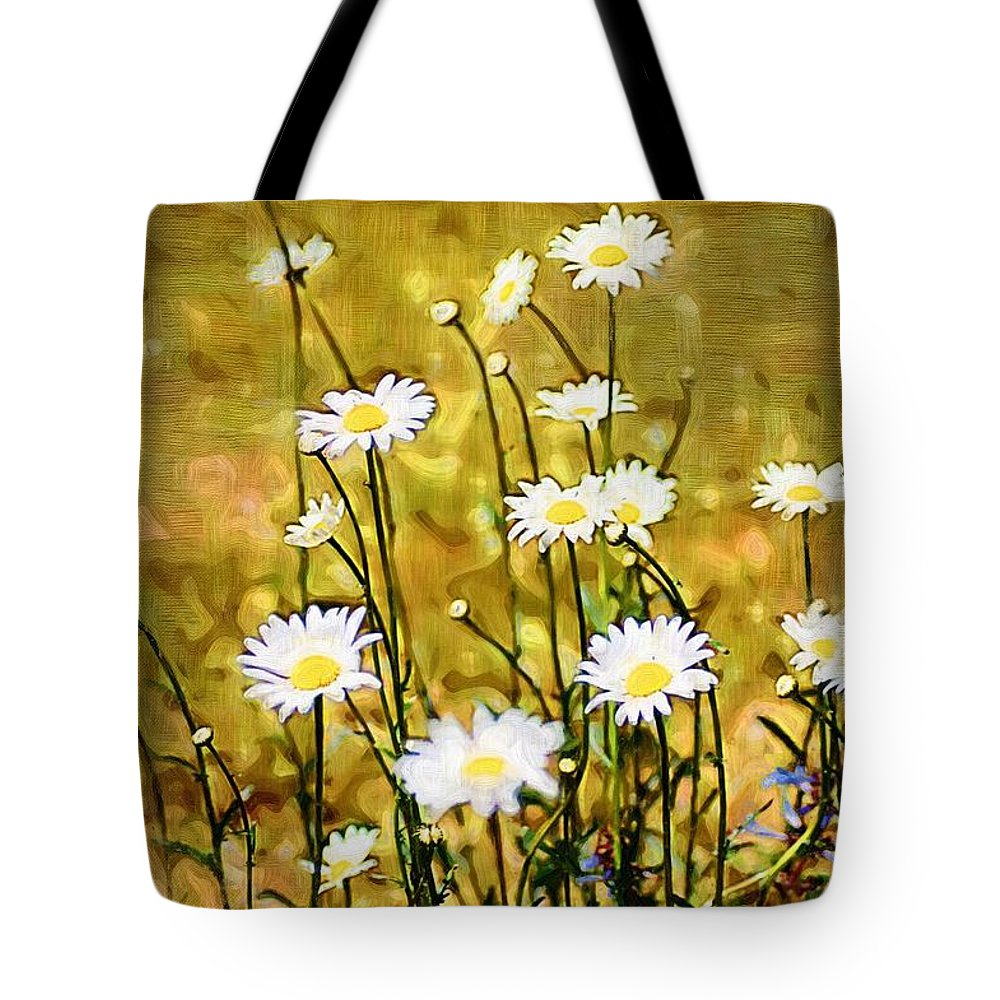 Daisy Tote Bag featuring the photograph Daisy Field by Donna Bentley