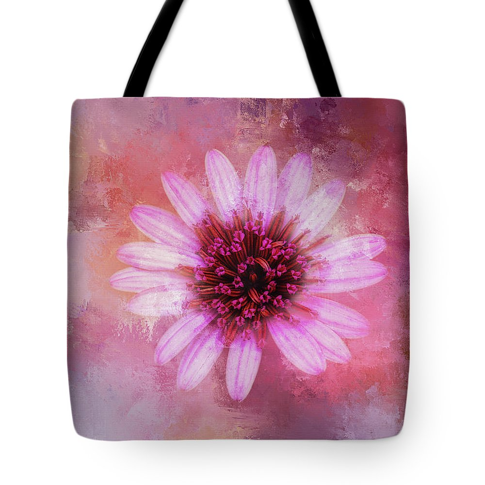 Magenta Tote Bag featuring the digital art Daisy In Magenta by Terry Davis