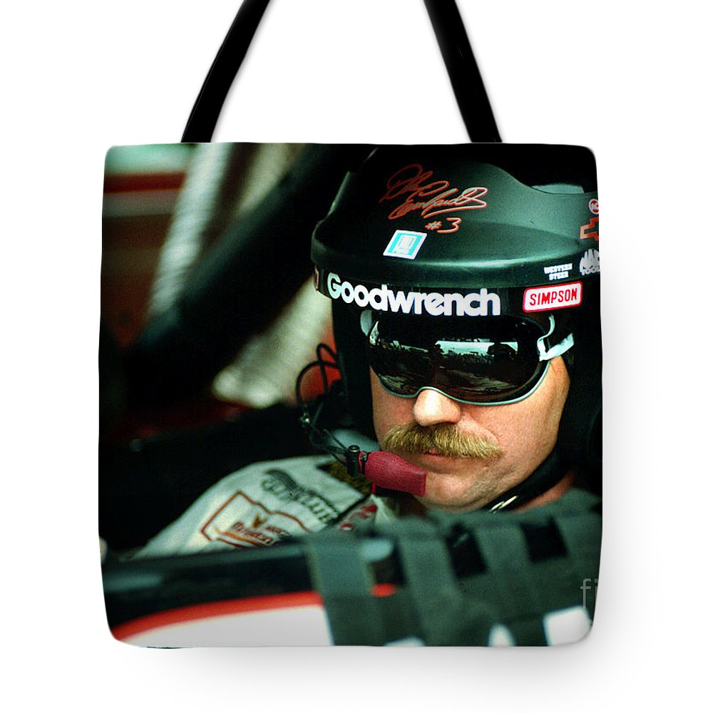 Earnhardt Tote Bag featuring the photograph Dale #3 Intimidating ... by Paolo Govoni