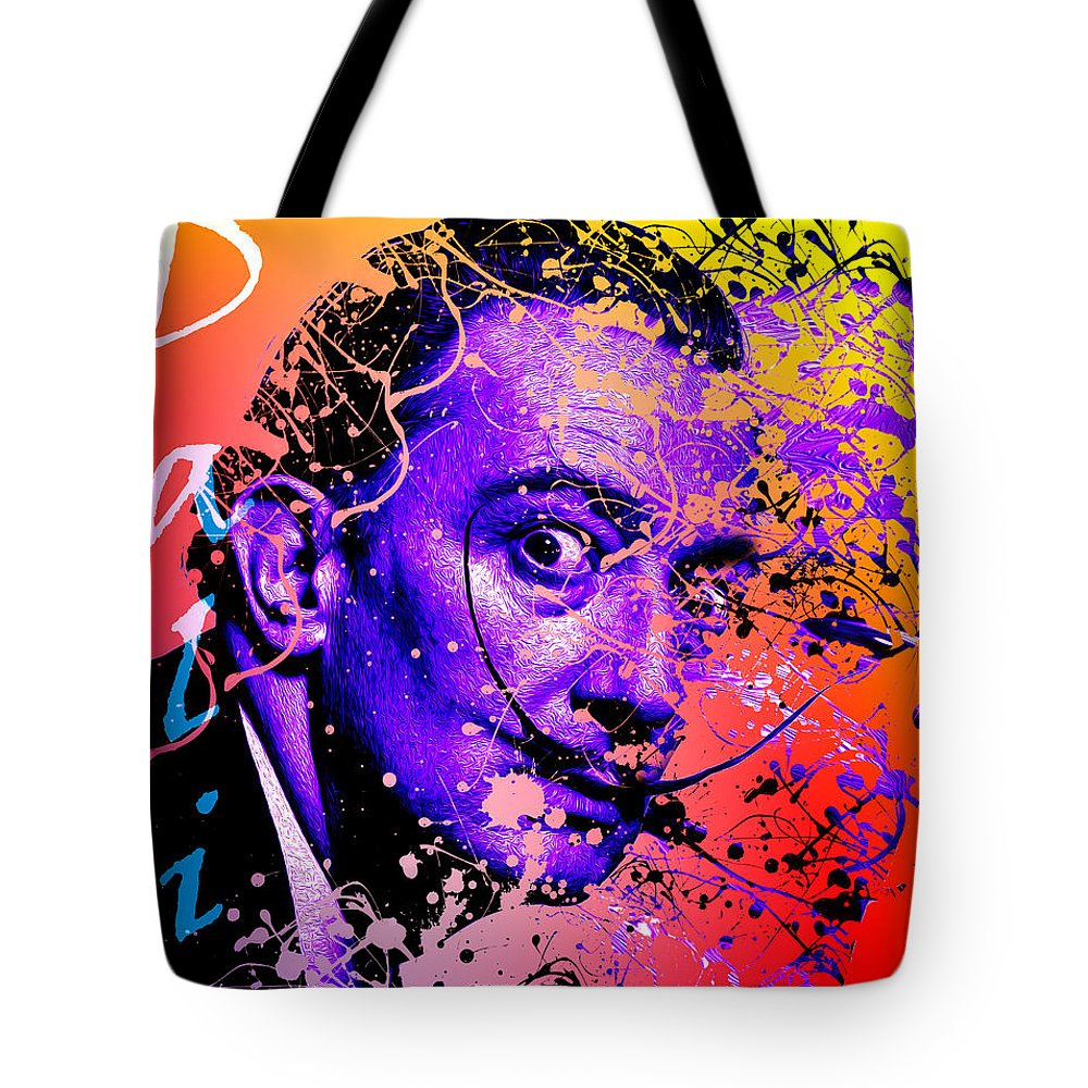 Salvador Tote Bag featuring the digital art Dali by Hay Rouleaux
