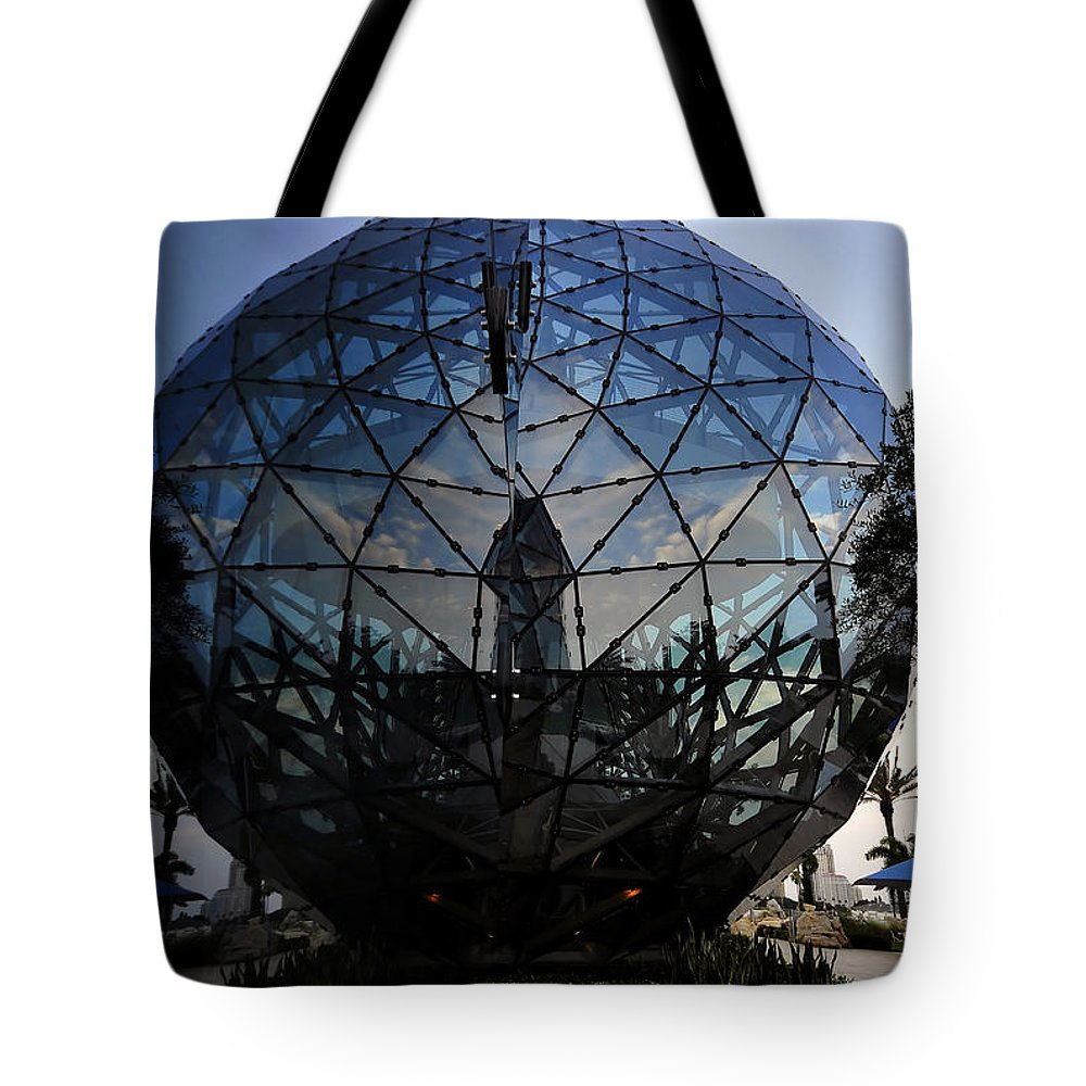 Fine Art Photography Tote Bag featuring the photograph Dalis Beach Ball by David Lee Thompson