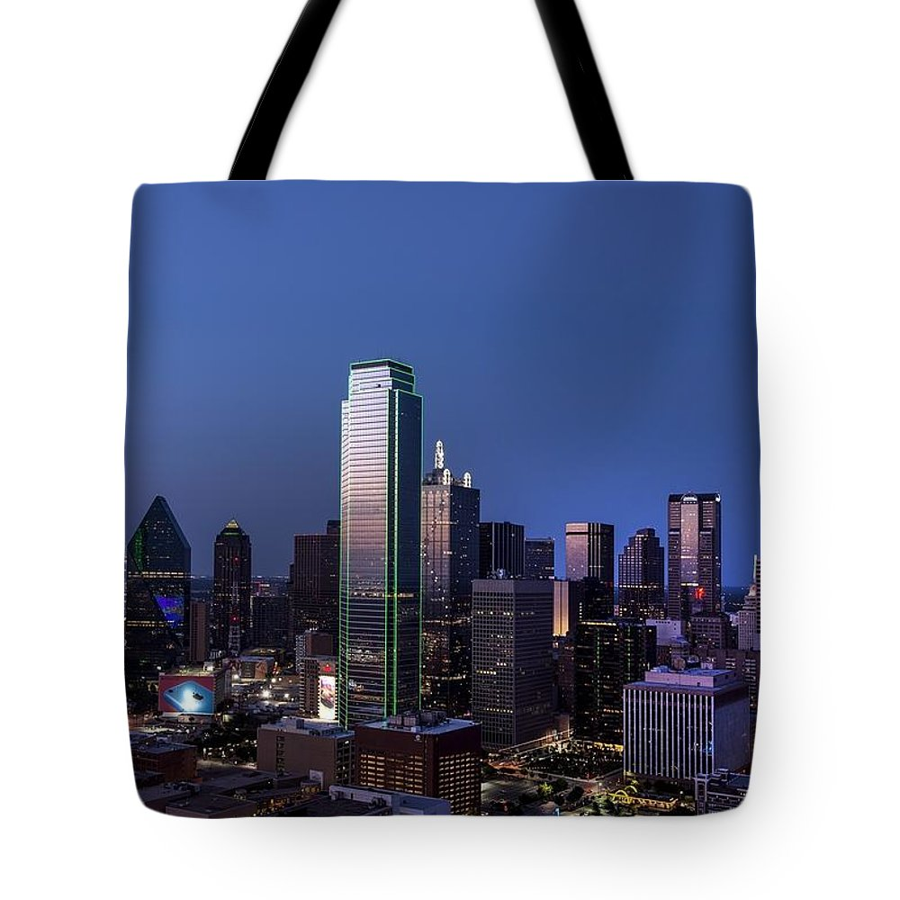 Skyline Tote Bag featuring the photograph Dallas by FL collection